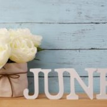 june alphabet letter with space background